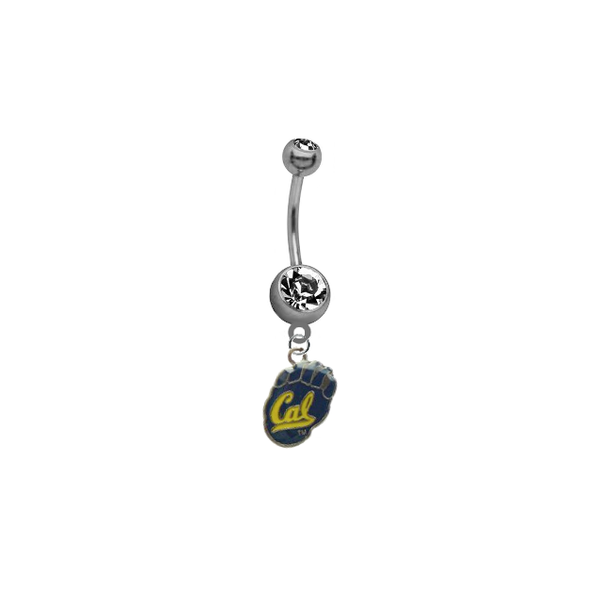 California Cal Golden Bears NCAA College Belly Button Navel Ring