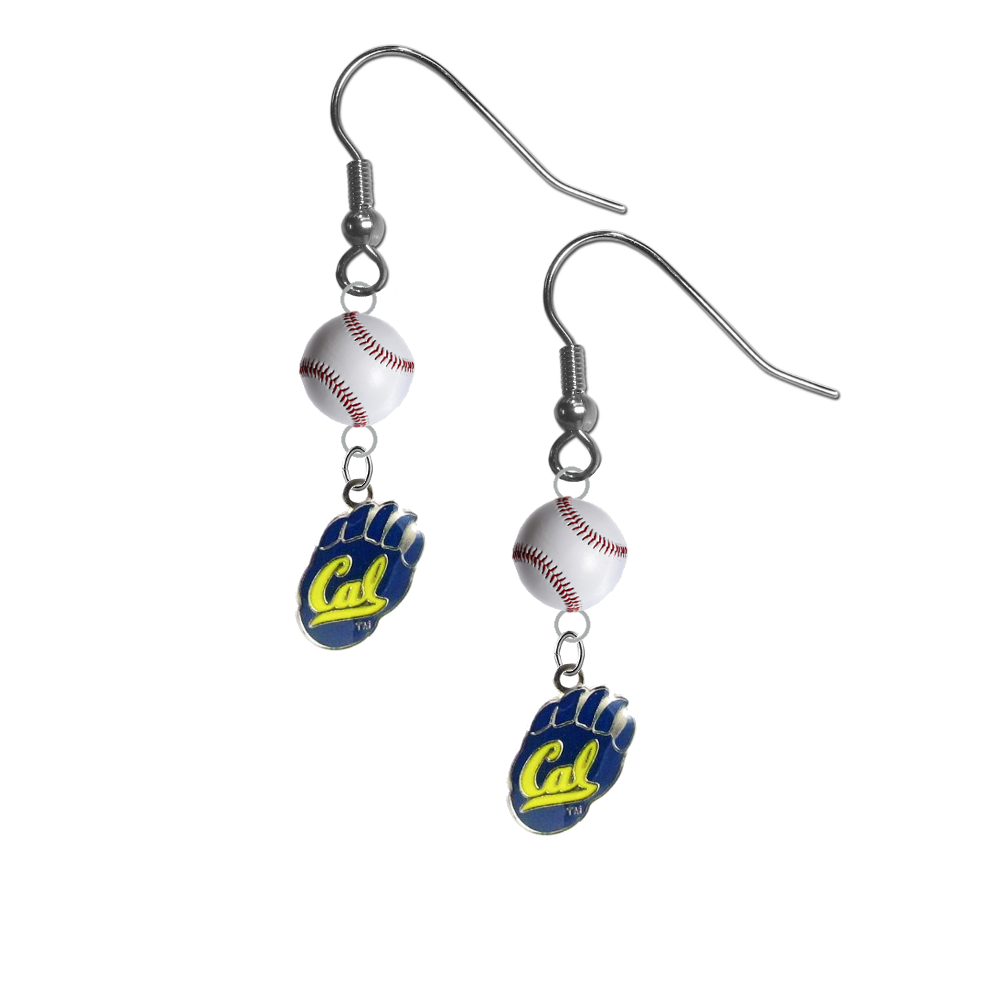 California Golden Bears NCAA Baseball Dangle Earrings