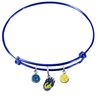 California Golden Bears BLUE Expandable Wire Bangle Charm Bracelet