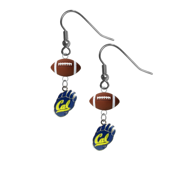 California Golden Bears NCAA Football Dangle Earrings