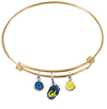 California Golden Bears GOLD Expandable Wire Bangle Charm Bracelet