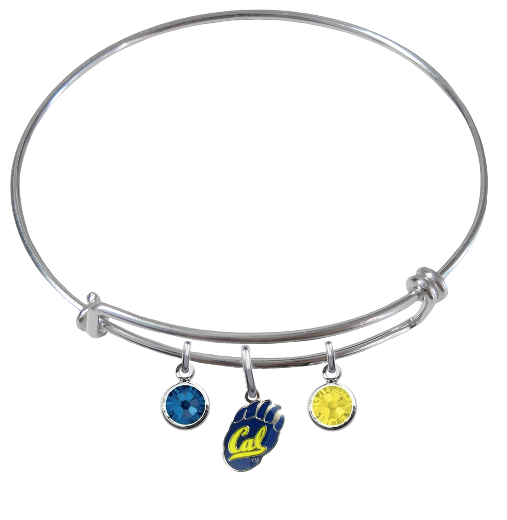 California Golden Bears NCAA Expandable Wire Bangle Charm Bracelet
