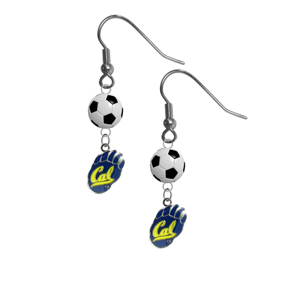 California Golden Bears NCAA Soccer Dangle Earrings