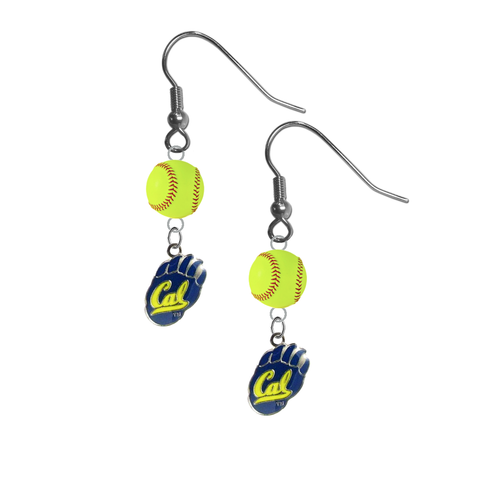 California Golden Bears NCAA Fastpitch Softball Dangle Earrings