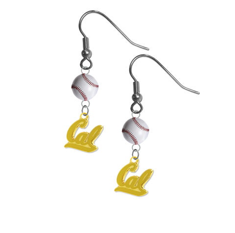California Golden Bears Style 2 NCAA Baseball Dangle Earrings