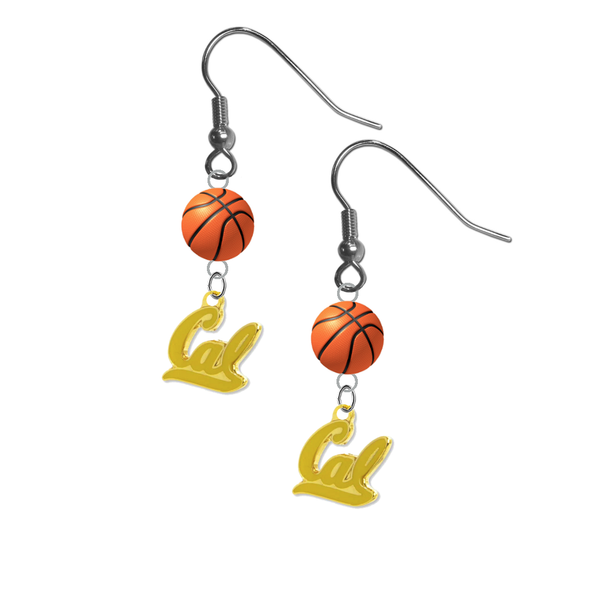 California Golden Bears Style 2 NCAA Basketball Dangle Earrings