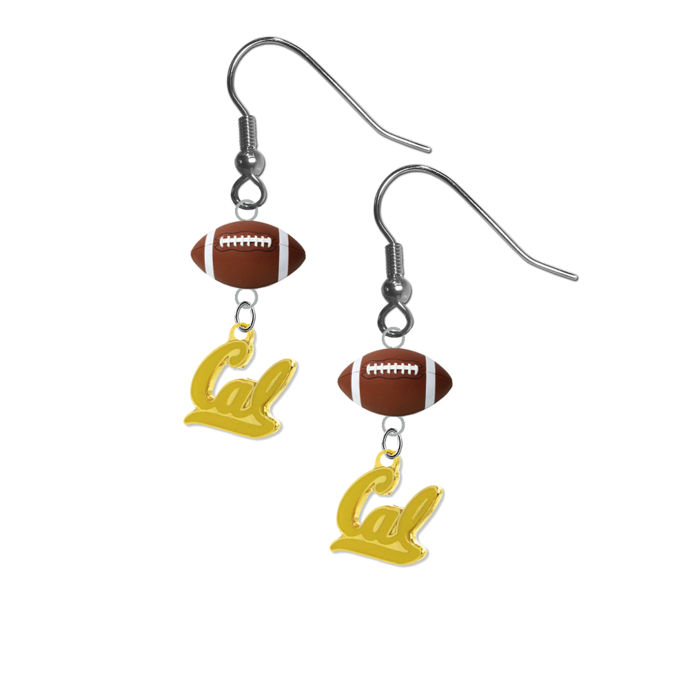 California Golden Bears Style 2 NCAA Football Dangle Earrings