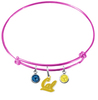 California Golden Bears Style 2 PINK Expandable Wire Bangle Charm Bracelet