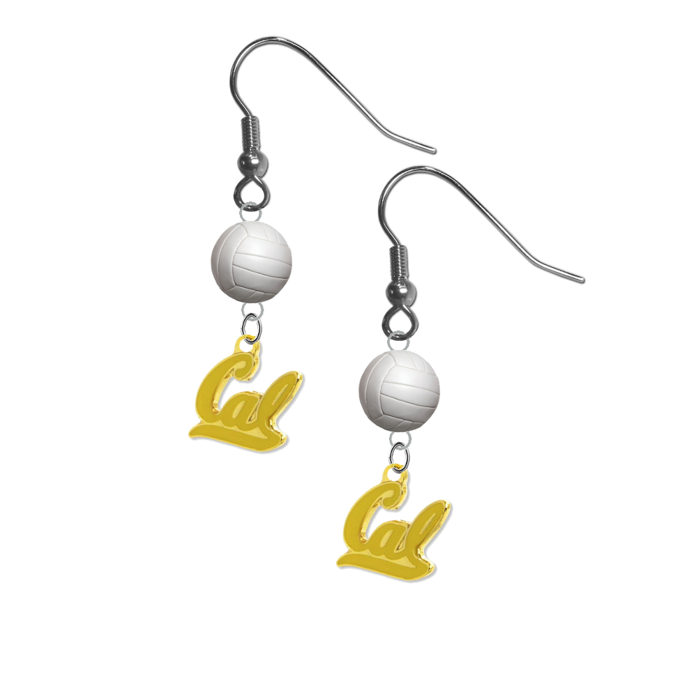 California Golden Bears Style 2 NCAA Volleyball Dangle Earrings