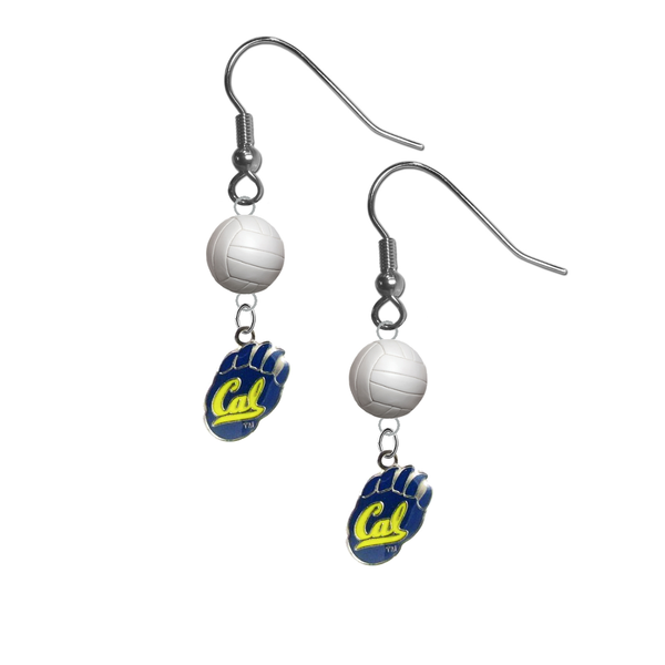 California Golden Bears NCAA Volleyball Dangle Earrings