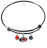Carolina Hurricanes Color Edition BLACK Expandable Wire Bangle Charm Bracelet