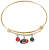 Carolina Hurricanes Color Edition GOLD Expandable Wire Bangle Charm Bracelet