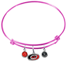 Carolina Hurricanes Color Edition PINK Expandable Wire Bangle Charm Bracelet