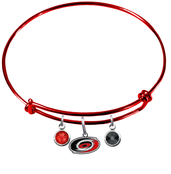 Carolina Hurricanes Color Edition RED Expandable Wire Bangle Charm Bracelet
