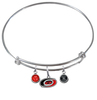 Carolina Hurricanes NHL Expandable Wire Bangle Charm Bracelet