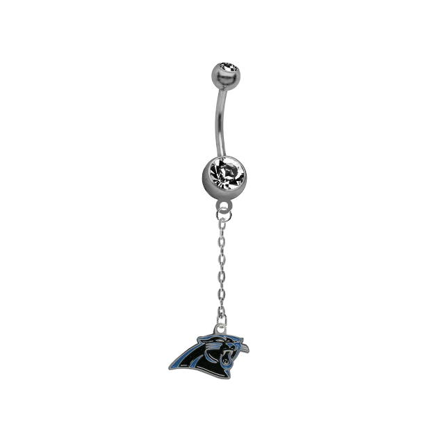 Carolina Panthers Chain NFL Football Belly Button Navel Ring
