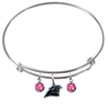 Carolina Panthers NFL Expandable Wire Bangle Charm Bracelet