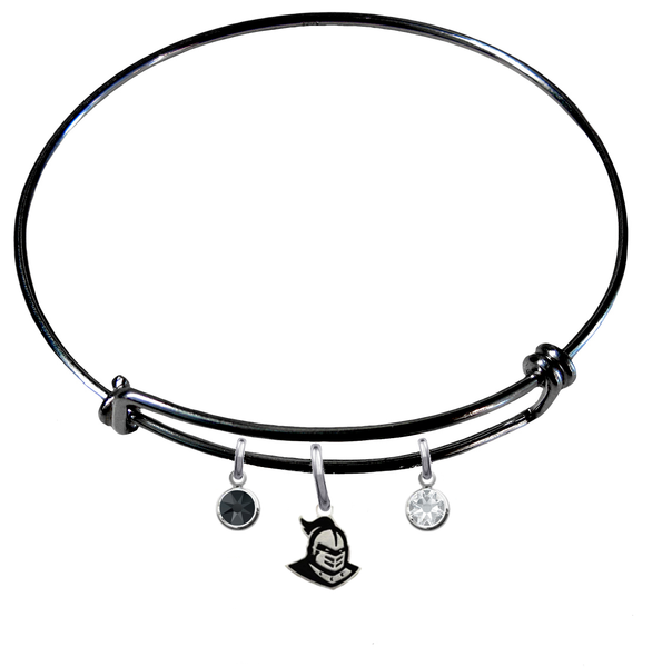 Central Florida Knights BLACK Color Edition Expandable Wire Bangle Charm Bracelet