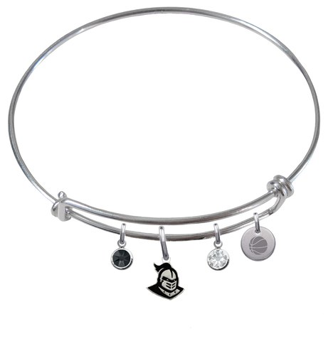 Central Florida Knights Basketball Expandable Wire Bangle Charm Bracelet