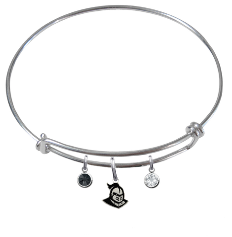 Central Florida Knights NCAA Expandable Wire Bangle Charm Bracelet