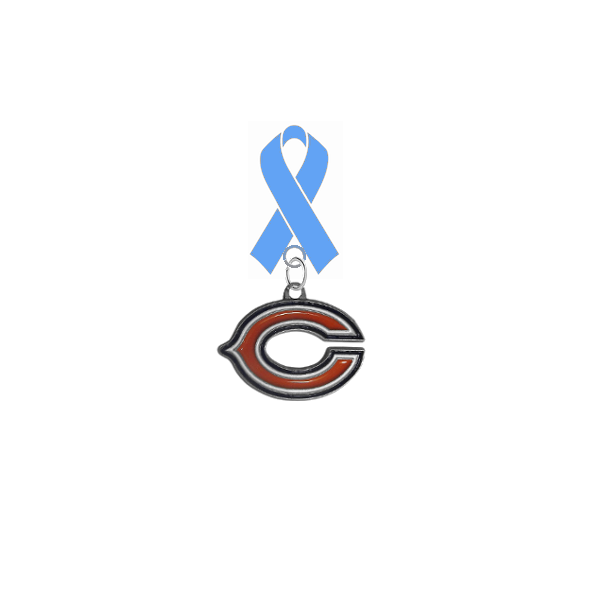Chicago Bears NFL Prostate Cancer Awareness / Fathers Day Light Blue Ribbon Lapel Pin