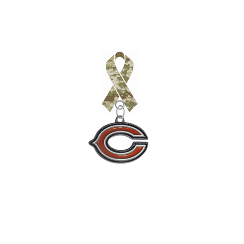Chicago Bears NFL Salute to Service Military Appreciation Camo Ribbon Lapel Pin