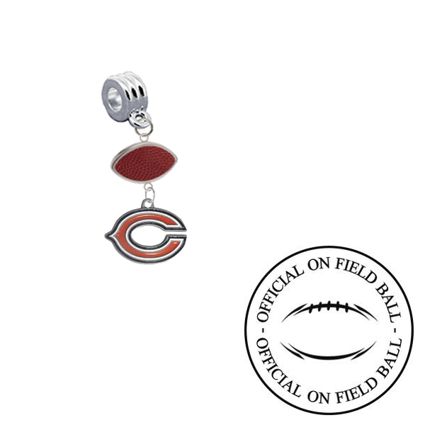 Chicago Bears On Field Football Universal European Bracelet Charm (Pandora Compatible)