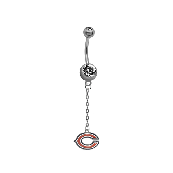 Chicago Bears Chain NFL Football Belly Button Navel Ring