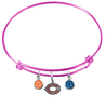 Chicago Bears Pink NFL Expandable Wire Bangle Charm Bracelet