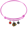 Chicago Blackhawks Color Edition PINK Expandable Wire Bangle Charm Bracelet