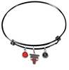 Chicago Bulls BLACK Color Edition Expandable Wire Bangle Charm Bracelet
