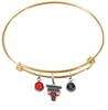 Chicago Bulls GOLD Color Edition Expandable Wire Bangle Charm Bracelet