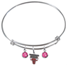 Chicago Bulls NBA Expandable Wire Bangle Charm Bracelet