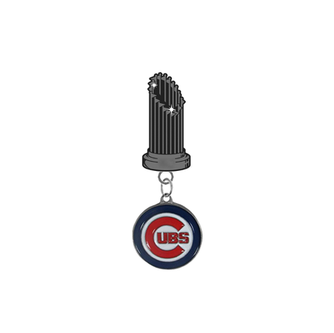 Chicago Cubs MLB World Series Trophy Lapel Pin