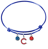 Chicago Cubs Style 2 Blue MLB Expandable Wire Bangle Charm Bracelet