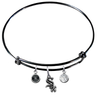 Chicago White Sox Black MLB Expandable Wire Bangle Charm Bracelet