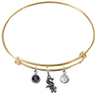 Chicago White Sox Gold MLB Expandable Wire Bangle Charm Bracelet