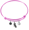 Chicago White Sox Pink MLB Expandable Wire Bangle Charm Bracelet
