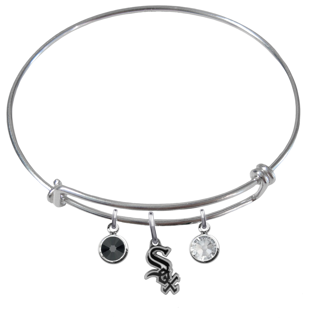 Chicago White Sox MLB Expandable Wire Bangle Charm Bracelet