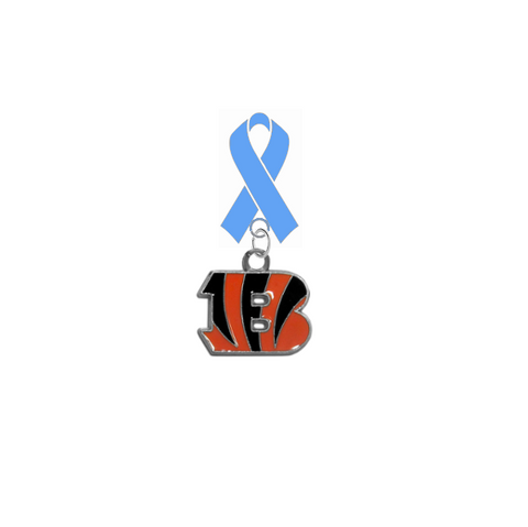 Cincinnati Bengals NFL Prostate Cancer Awareness / Fathers Day Light Blue Ribbon Lapel Pin