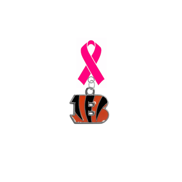 Cincinnati Bengals NFL Breast Cancer Awareness / Mothers Day Pink Ribbon Lapel Pin