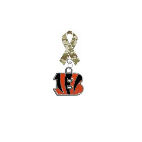Cincinnati Bengals NFL Salute to Service Military Appreciation Camo Ribbon Lapel Pin
