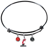 Cincinnati Bearcats BLACK Expandable Wire Bangle Charm Bracelet