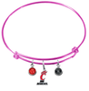 Cincinnati Bearcats PINK Expandable Wire Bangle Charm Bracelet