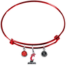 Cincinnati Bearcats RED Expandable Wire Bangle Charm Bracelet