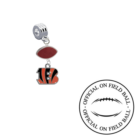 Cincinnati Bengals On Field Football Universal European Bracelet Charm (Pandora Compatible)