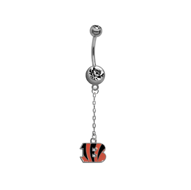 Cincinnati Bengals Chain NFL Football Belly Button Navel Ring
