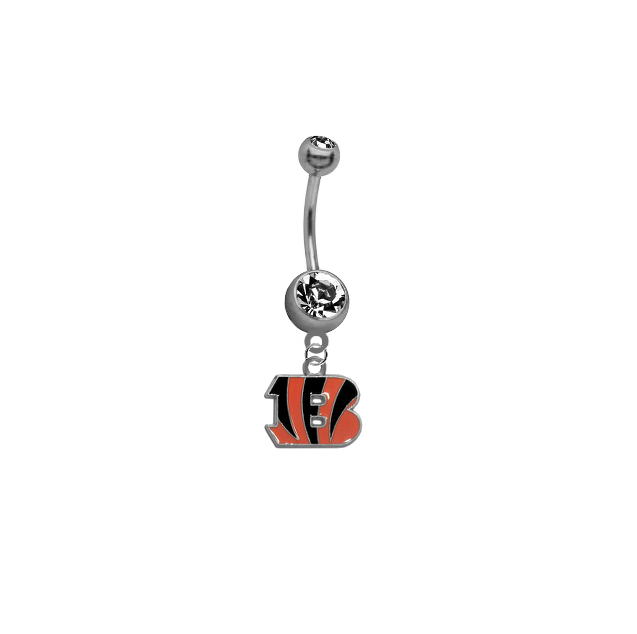 Cincinnati Bengals NFL Football Belly Button Navel Ring
