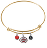 Cincinnati Reds Gold MLB Expandable Wire Bangle Charm Bracelet
