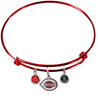 Cincinnati Reds Red MLB Expandable Wire Bangle Charm Bracelet